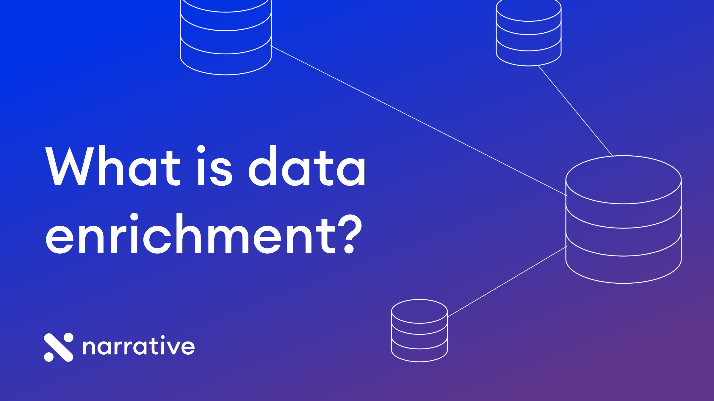 What is data enrichment?