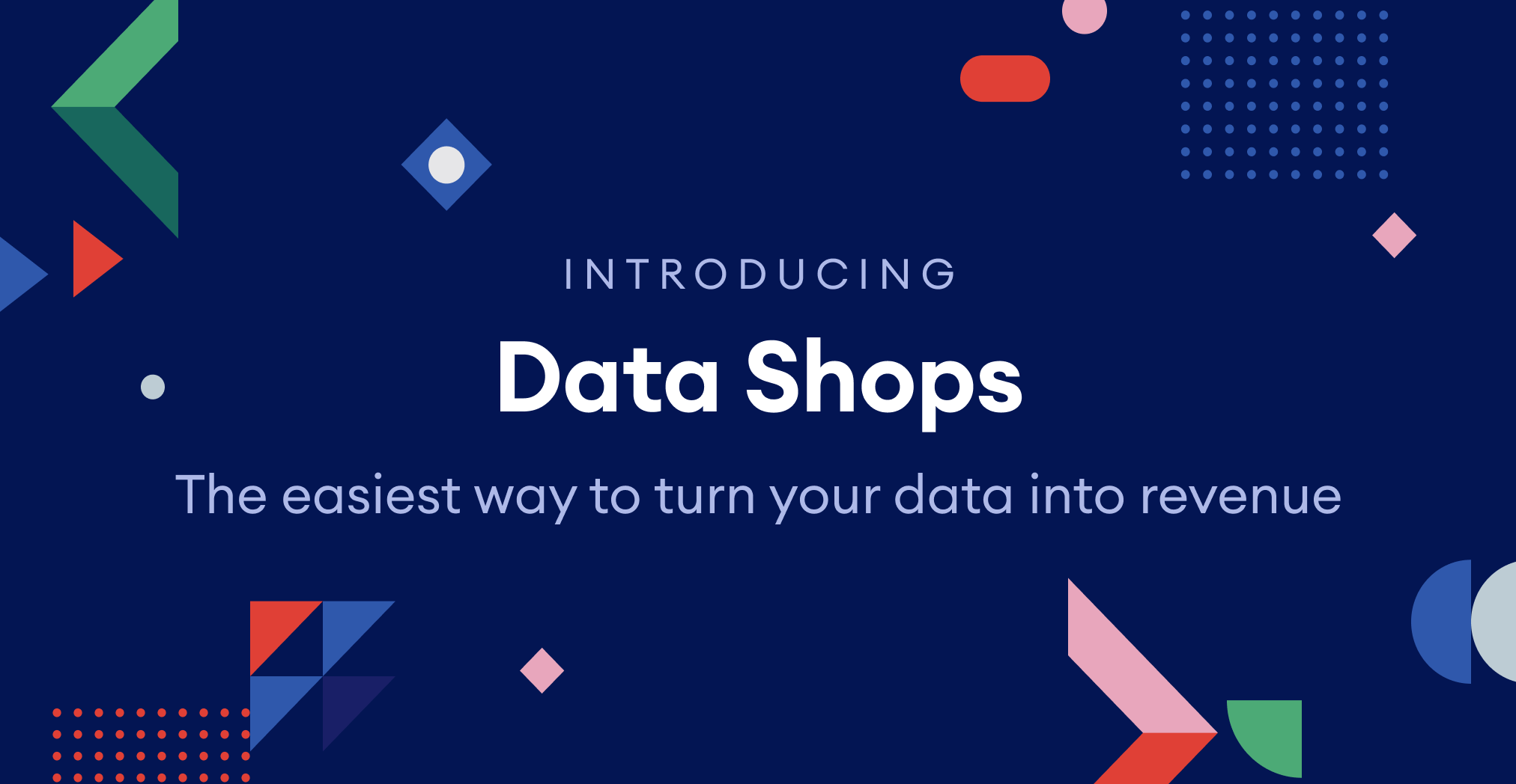Launch a custom data exchange with Data Shops